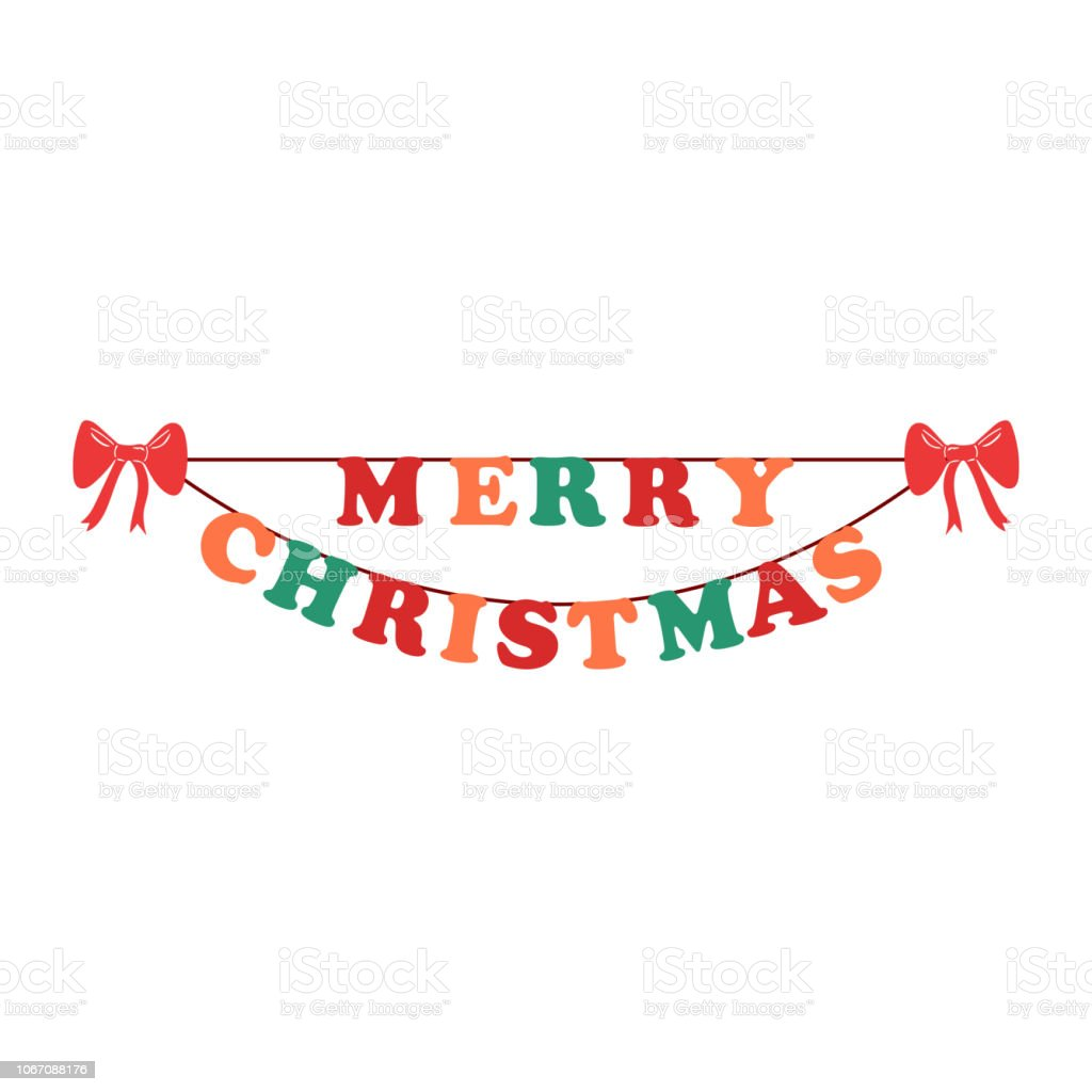 Merry Christmas Greeting Card Design Template Layout On