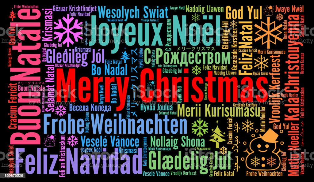 merry christmas in different languages word cloud royalty free merry christmas in different languages word