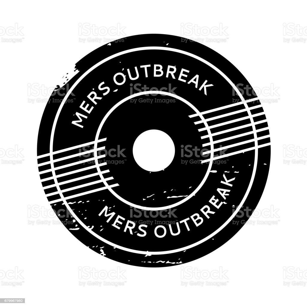 Mers Outbreak rubber stamp vector art illustration
