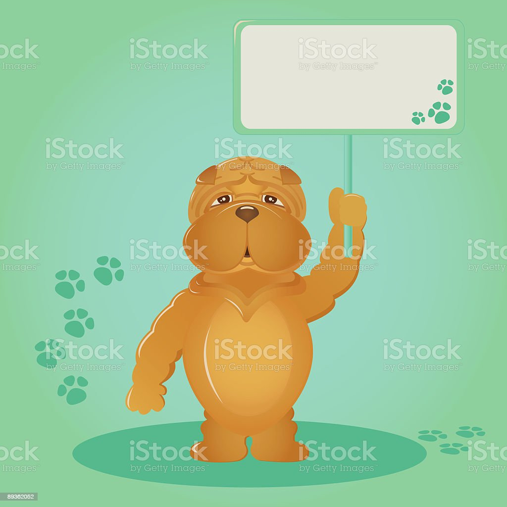 Message from a puppy! royalty-free stock vector art