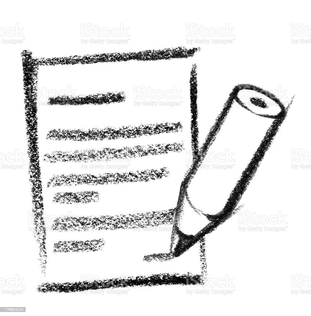 message icon vector art illustration