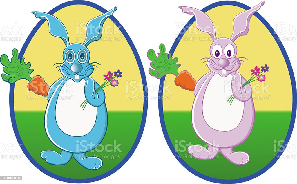 M.et Mme. Lapin royalty-free stock vector art