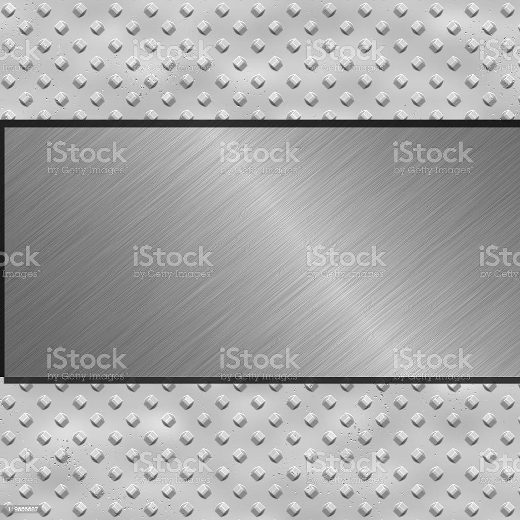 metal banner royalty-free stock vector art