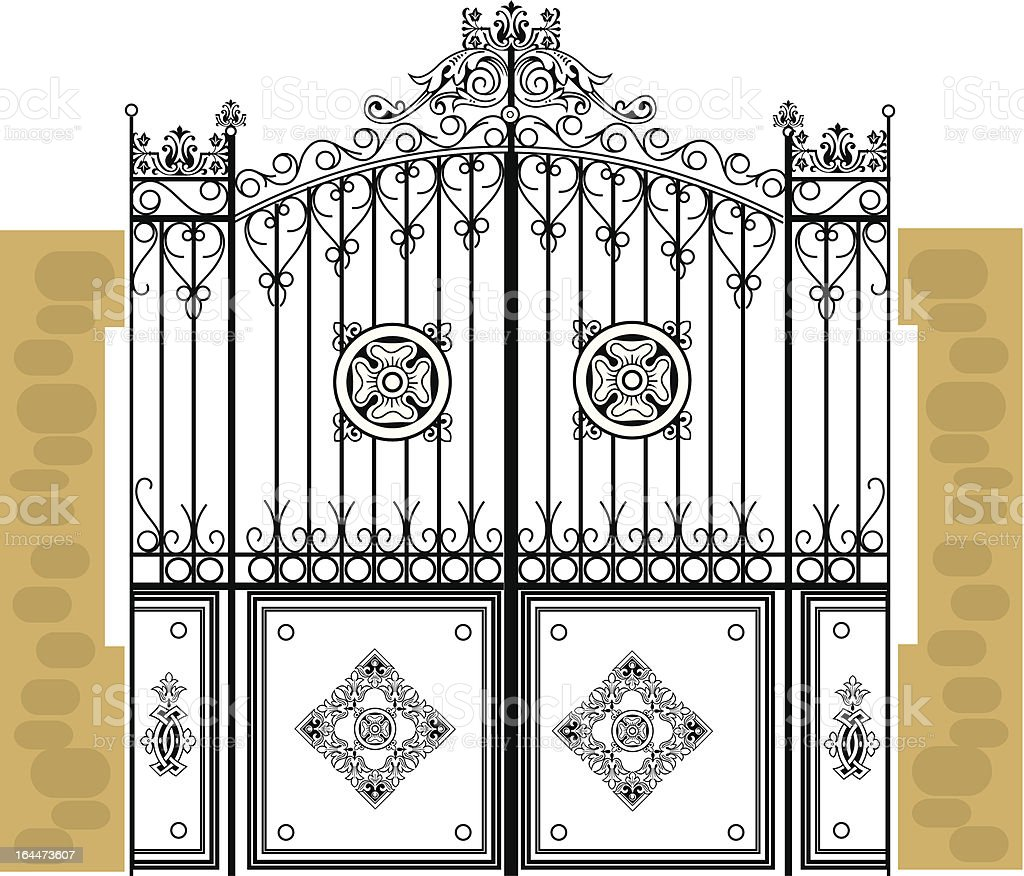 metal decoration, gate royalty-free stock vector art