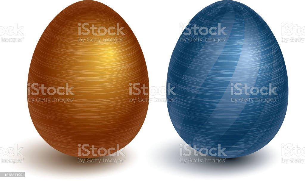 Metal eggs royalty-free stock vector art