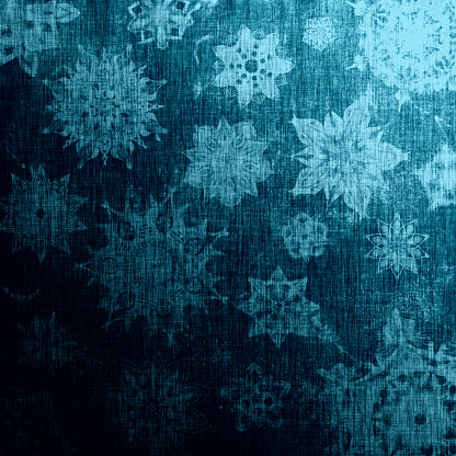 Metallic blue winter pattern with traditional element