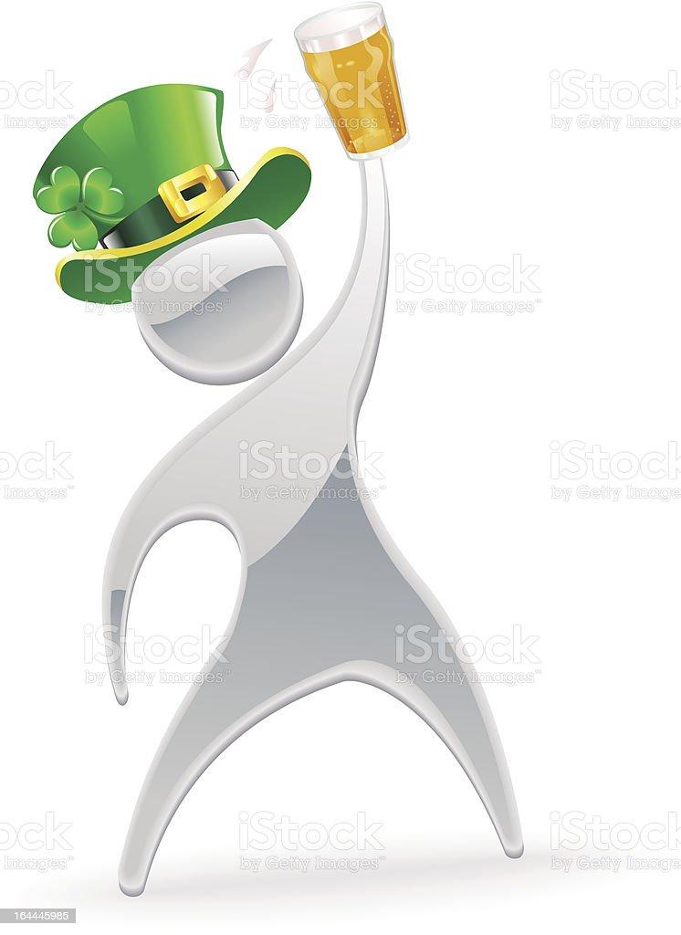 Metallic man St. Patrick's Day concept royalty-free stock vector art