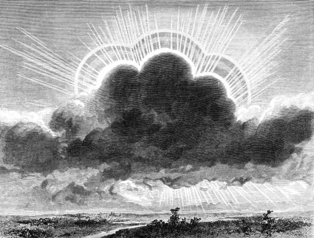 meteor light - mimari illüstrasyonlar stock illustrations