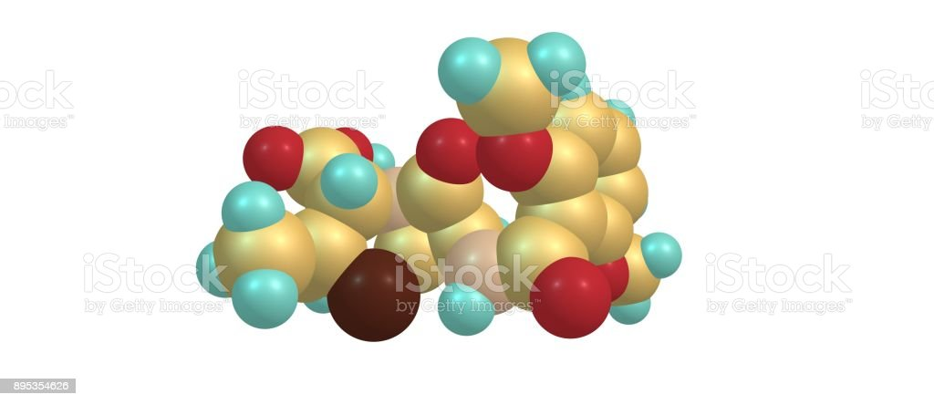Meticillin molecular structure isolated on white vector art illustration
