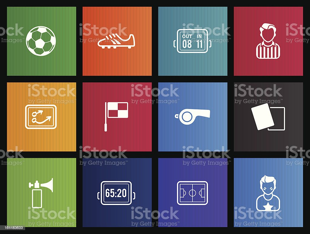 Metro Icons - Soccer royalty-free stock vector art