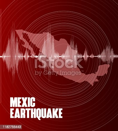 istock Mexic Earthquake wave map 1182755443