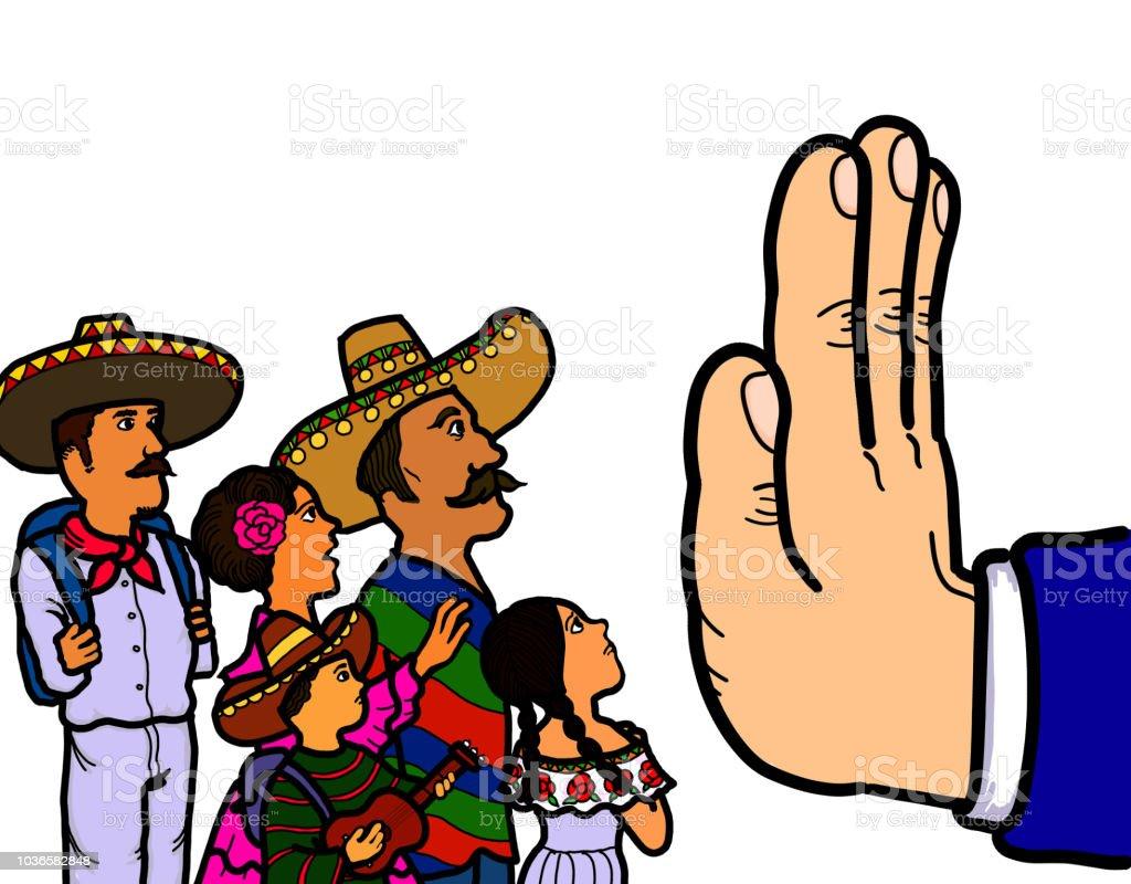メキシコの不法移民 Usボーダーパトロールのベクターアート素材や画像
