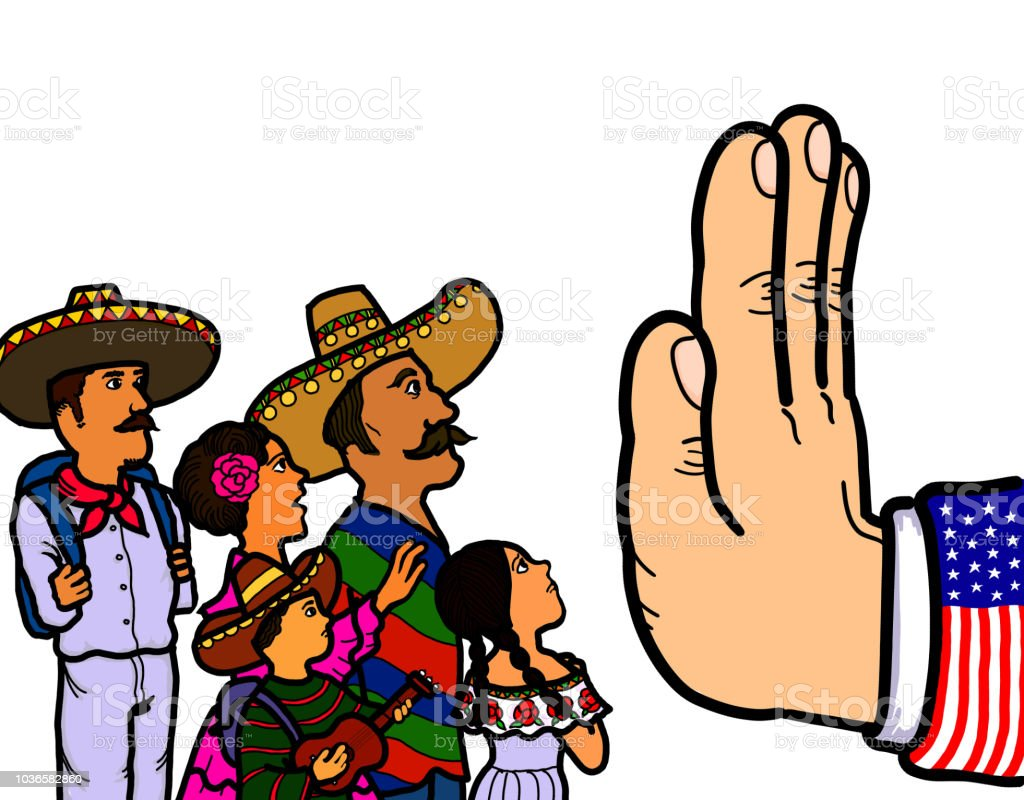 Vetores De Imigrantes Ilegais Mexicanos E Mais Imagens De Adulto