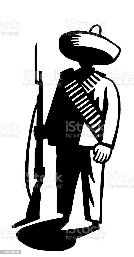 Mexican Man With Gun royalty-free stock vector art