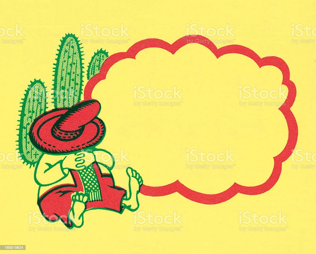 mexican resting on a cactus and border stock vector art more rh istockphoto com