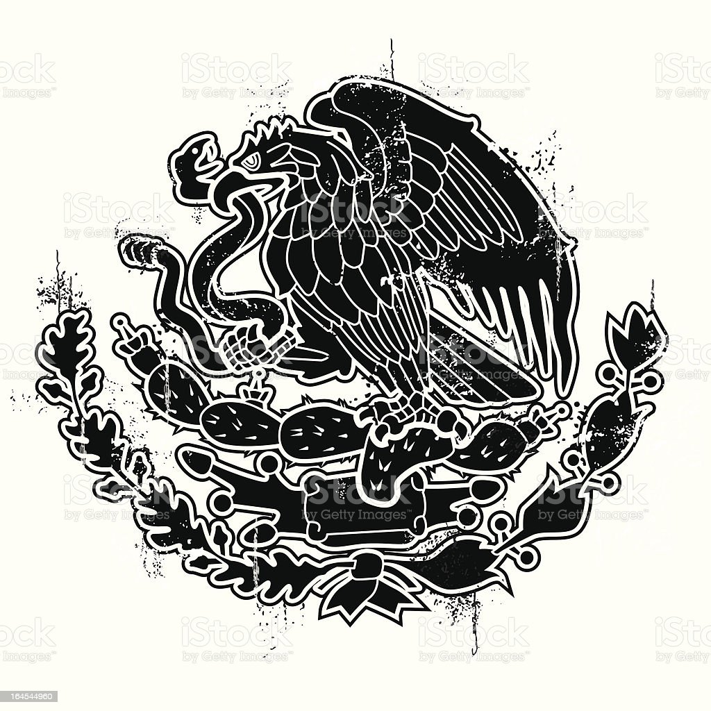 Mexican Standoff vector art illustration