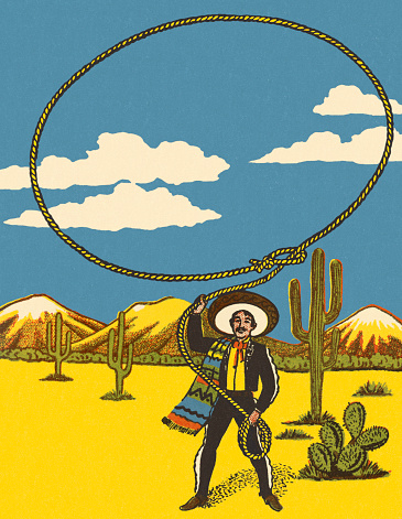 Mexican Throwing a Lasso