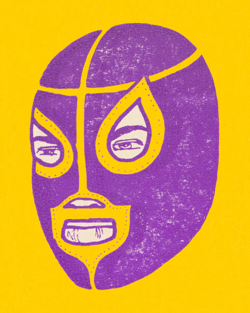 メキシコの力士 - レスリング点のイラスト素材/クリップアート素材/マンガ素材/アイコン素材