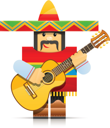 mexicano man origami toy