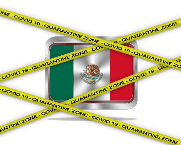 mexico covid 19. - covid testing stock illustrations