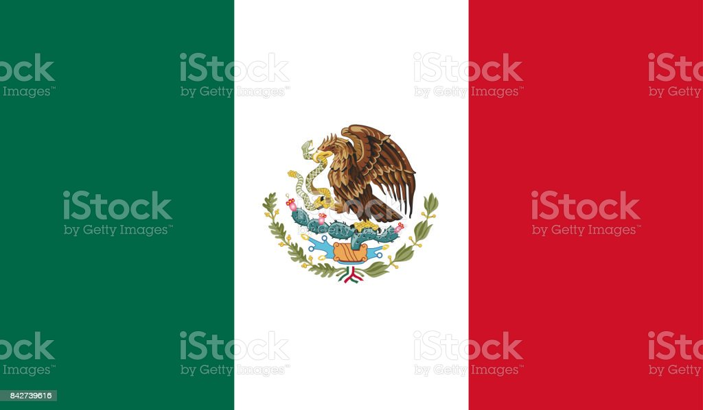 Mexico Flag Stock Vector Art More Images Of Backgrounds 842739616
