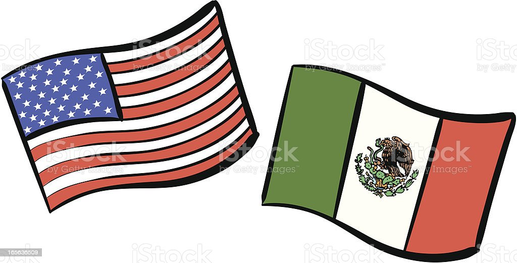 royalty free clip art of mexico usa flag clip art vector images rh istockphoto com mexican flag clip art free mexican flag pictures clip art