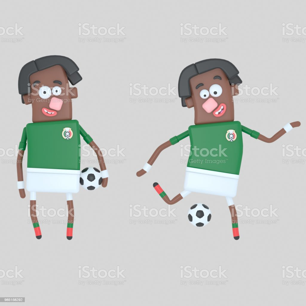 97bc6068f98 Mexico soccer player royalty-free mexico soccer player stock vector art  & more images