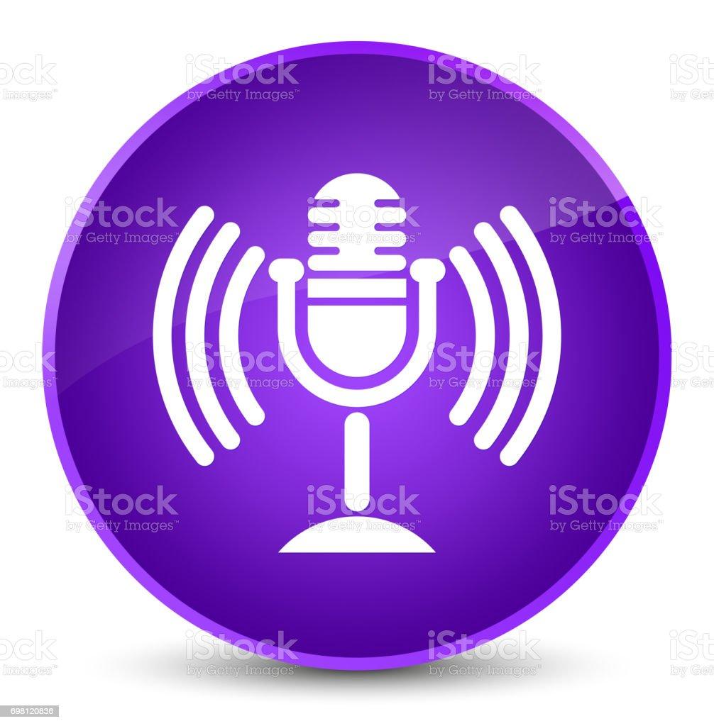 Mic icon elegant purple round button vector art illustration