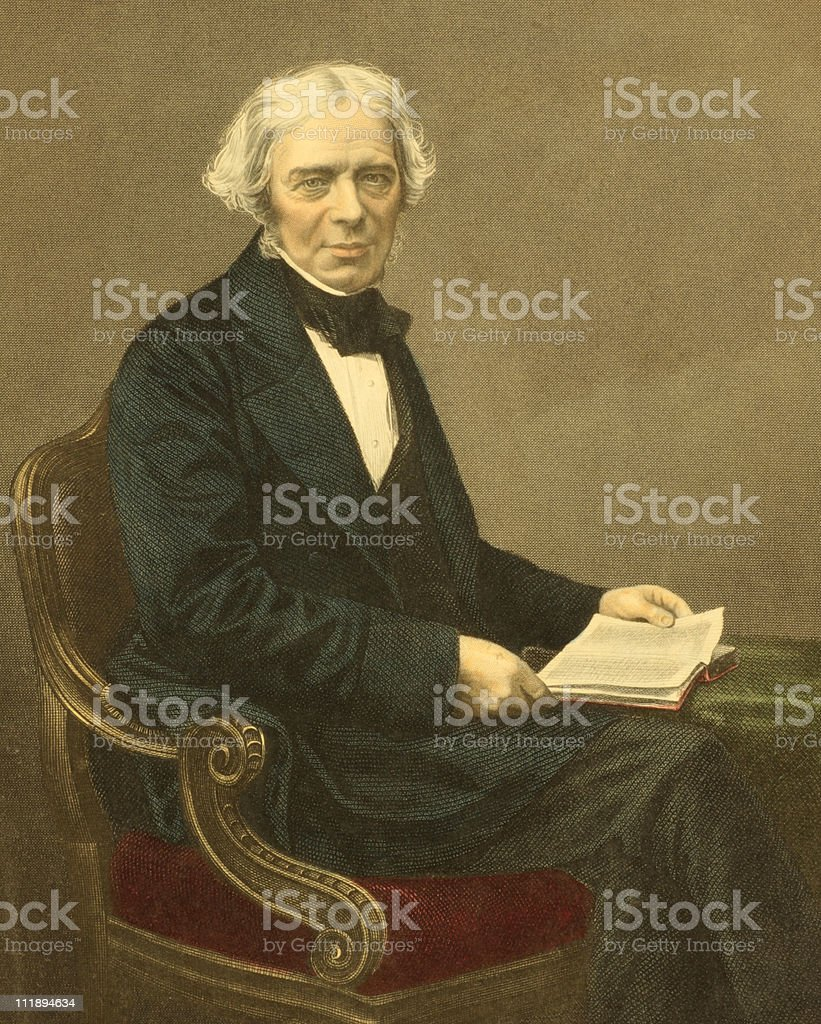 Michael Faraday vector art illustration