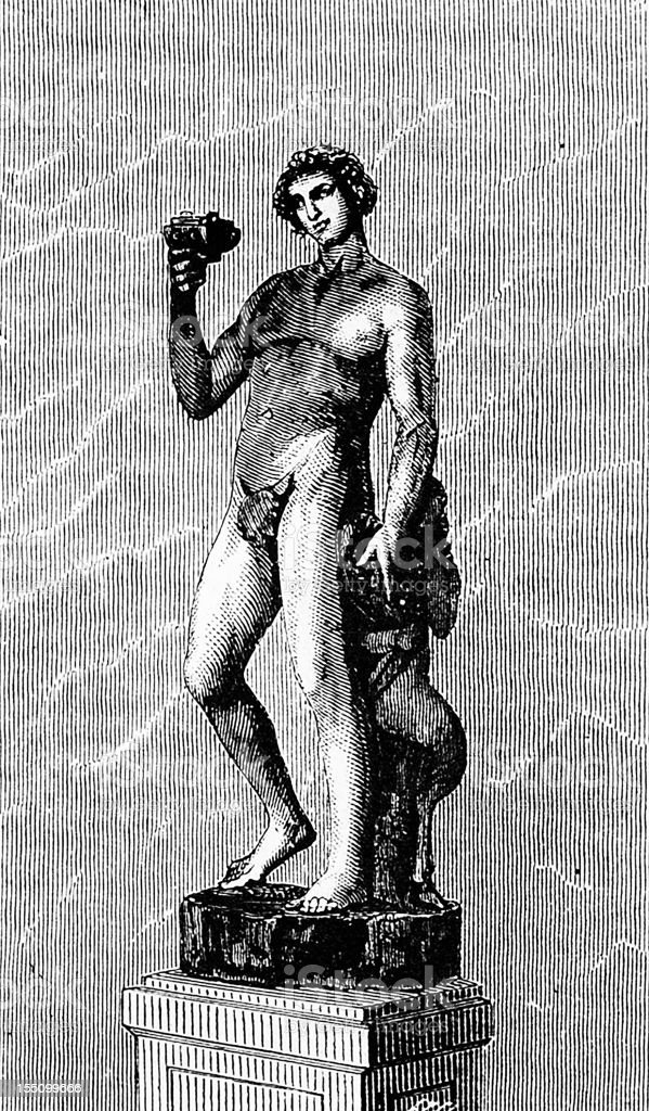 Michelangelo's Bacchus vector art illustration