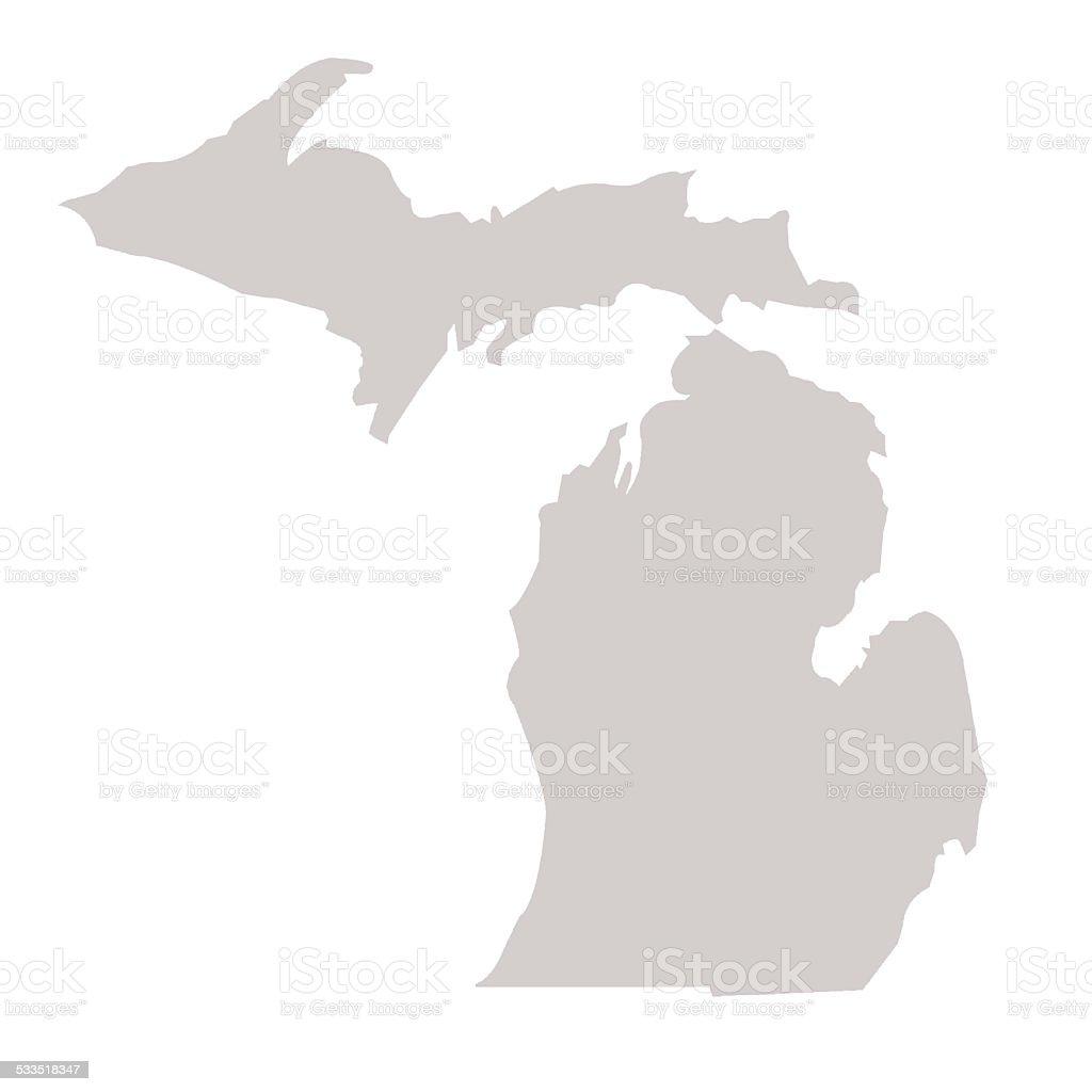 Michigan State map vector art illustration