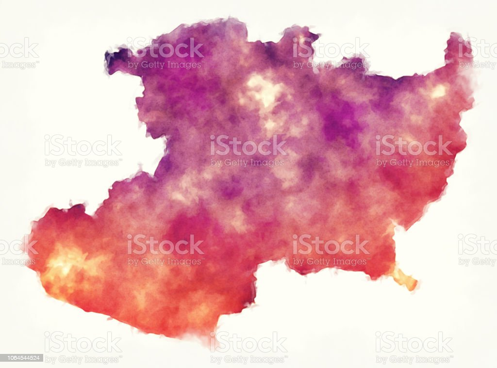 Michoacan State Map Of Mexico In Front Of A White Background Stock