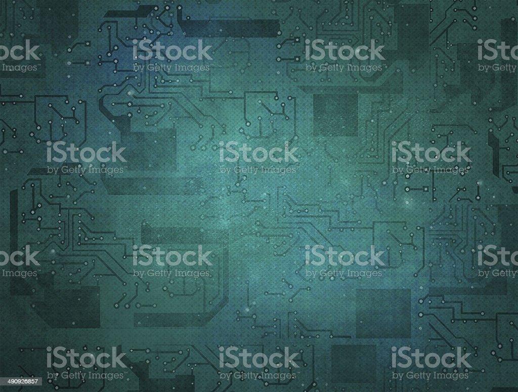 Microcircuit. Computer chip. vector art illustration