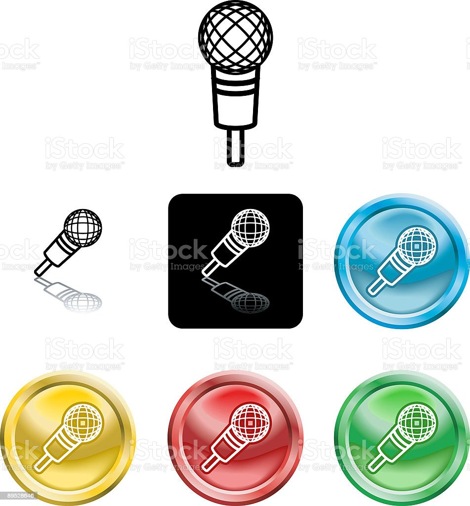 microphone icon symbol royalty-free microphone icon symbol stock vector art & more images of black color