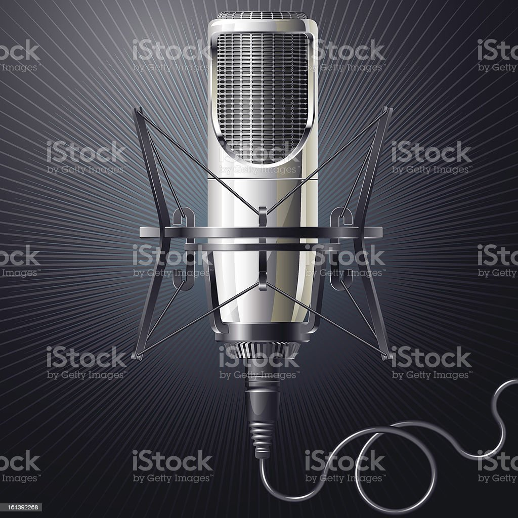 Microphone royalty-free microphone stock vector art & more images of arts culture and entertainment