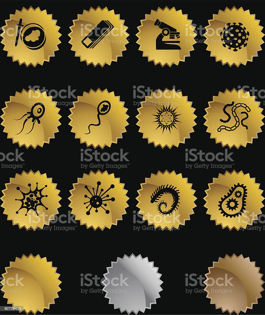 Microscopic Star Set royalty-free stock vector art