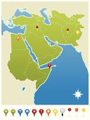 Middle East, North Africa, Pakistan and Afghanistan GPS Map Icons