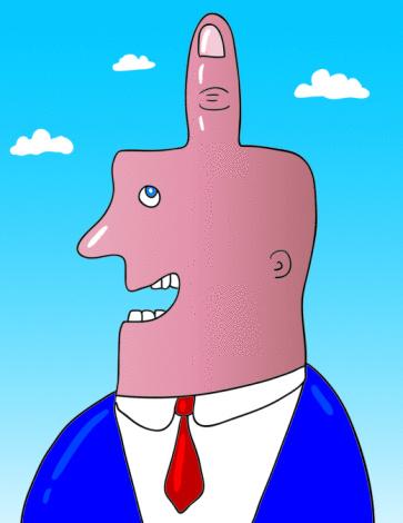 Middle Finger Man Stock Illustration - Download Image Now