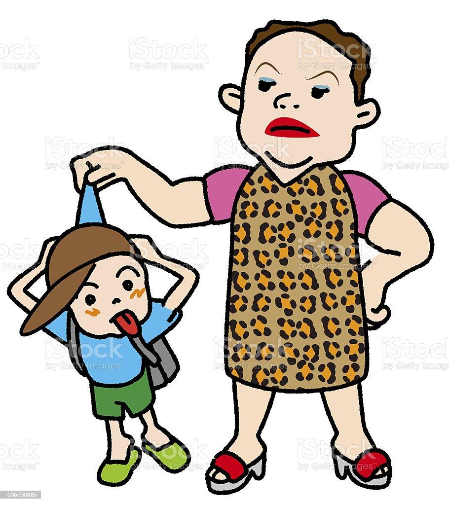 Naughty kids clipart