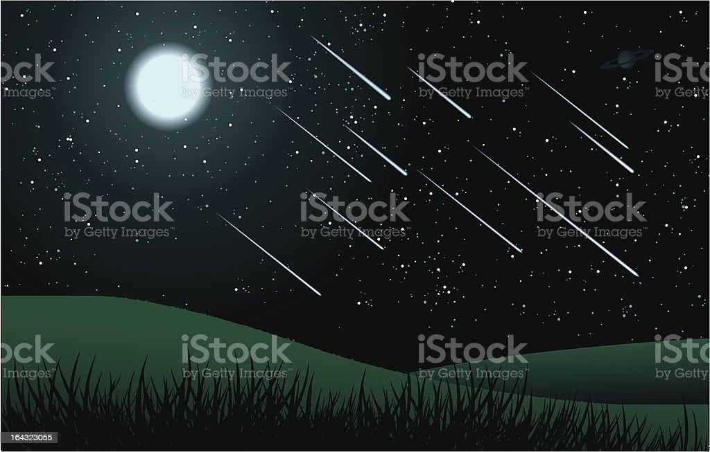 Midnight Meteor Shower royalty-free midnight meteor shower stock vector art & more images of astronomy