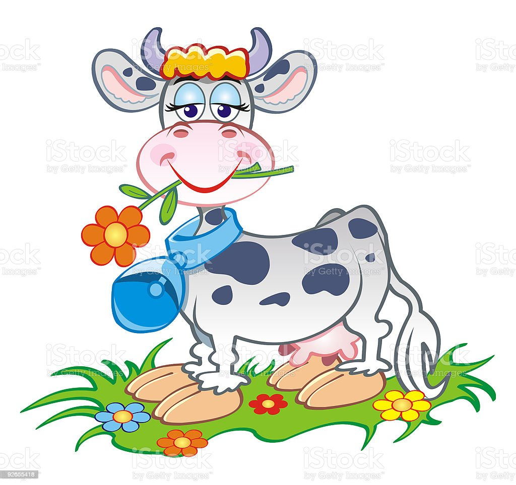 Milchcow royalty-free stock vector art
