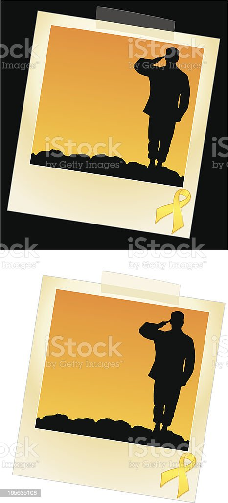Military Photo vector art illustration