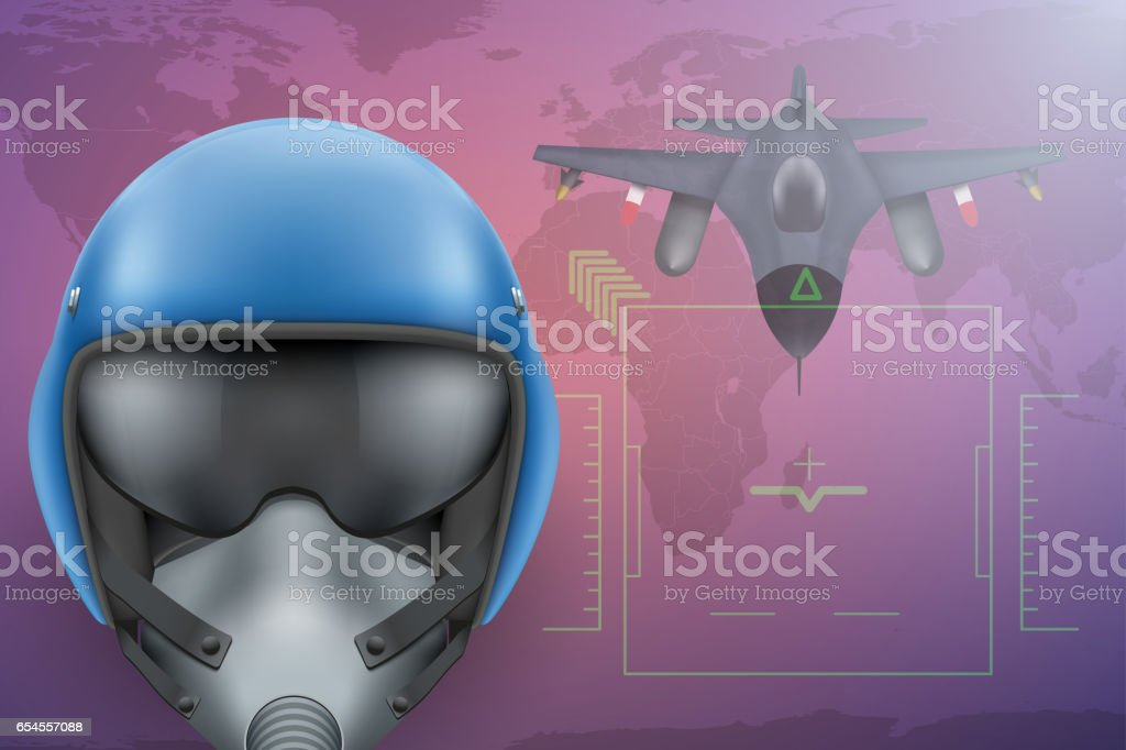 Military Pilot  background vector art illustration