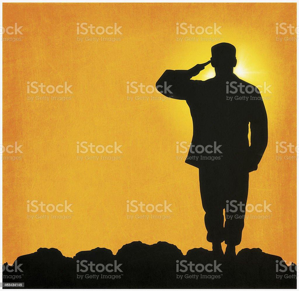 Military Salute vector art illustration