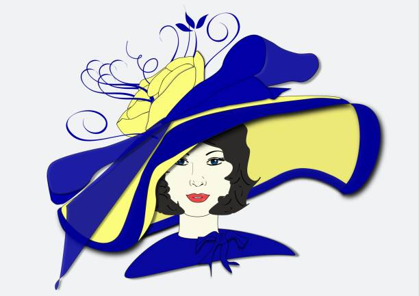 55106a01f044d Millicent s Derby Day Hat vector art illustration