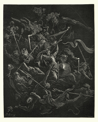 Milton's Paradise Lost -  Gustave Dore Idiots, eremites and friars