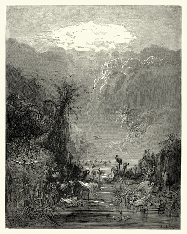 Milton's Paradise Lost - tepid cavesm and fens and shores