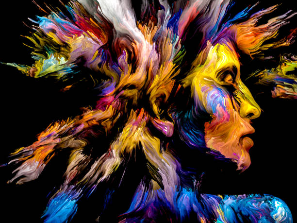 Mind Burst vector art illustration