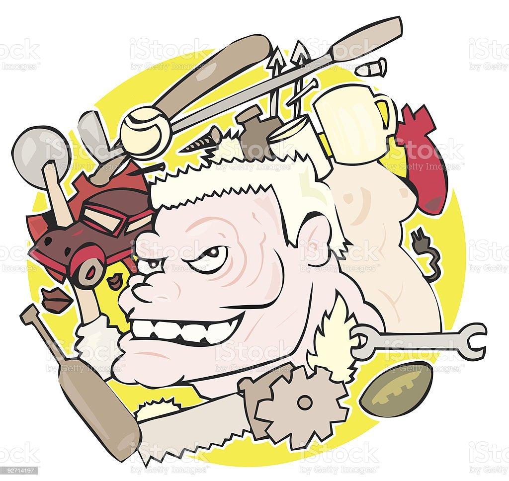 Mind of a Man vector art illustration