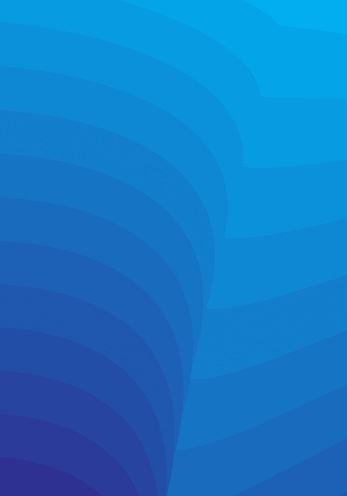 Minimal Smooth Curved Lines Blue Gradient Vertical Background